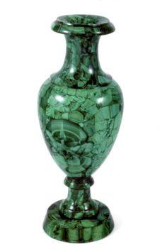 Circa 1900's Russian Malachite Vase