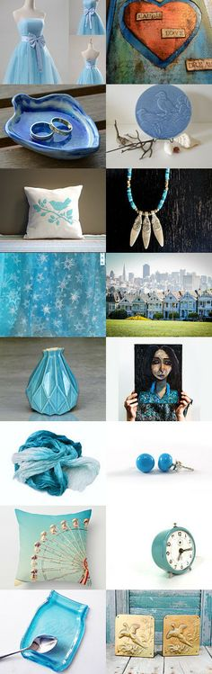 Gifts in blue ... by Elinor Levin on Etsy--Pinned with TreasuryPin.com