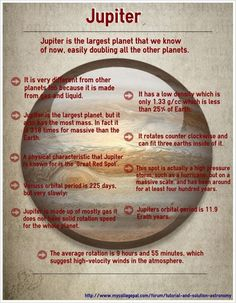 Jupiter [Infographic]-- #Infographics-Astronomy: