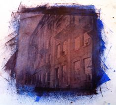 Niagara Street blue/brown - Silk Screen - Toronto - 2012