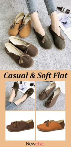 f1f67a921b0e0 Women Casual Soft Tassel Round Tod Slip On Flats is cheap and comfortable.  There are other cheap women flats and loafers online.