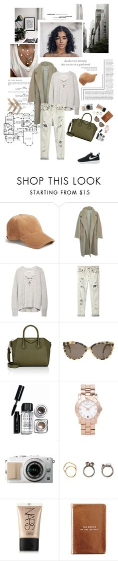 """Decide every morning that you are in a good mood [read below]."" by sarahstardom ❤ liked on Polyvore featuring rag & bone, MaxMara, R13, Givenchy, Prism, Bobbi Brown Cosmetics, Marc by Marc Jacobs, Iosselliani, NARS Cosmetics and Kate Spade"
