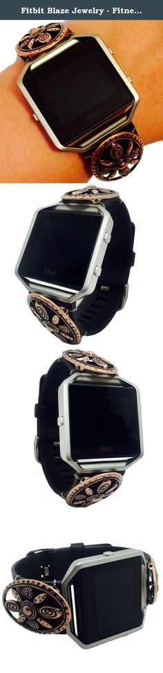 Fitbit Blaze Jewelry - Fitness Tracker Accessory Bracelet - Antiqued Oval Cutout Flower Southwest Style BRASILIA Charm Bracelet Accessory (Antiqued Bronze). Fitbit Blaze Jewelry - Fitness Tracker Accessory Bracelet - Antiqued Oval Cutout Flower Southwest Style BRASILIA Charm Bracelet Accessory. Harmonize weekend style & wearable tech! This Antiqued Oval Cutout Flower Southwest Style BRASILIA Charm Bracelet Accessory for the Fitbit Blaze activity trackers is a boho, chic and a trendy way…
