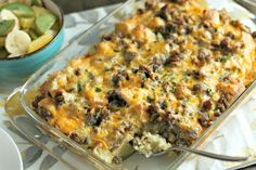 Feeding a crowd over the holidays? This breakfast casserole is perfect for you! It is super easy, affordable and the BEST EVER!
