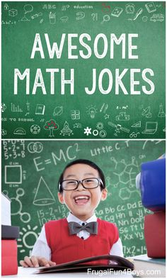 The Best Funny Math Jokes for Kids - Frugal Fun For Boys and GirlsAwesome Math Jokes - Algebra jokes, geometry jokes, and just general funny math jokes! All clean and appropriate. Funny Math Jokes, Jokes And Riddles, Silly Jokes, Math Humor, Jokes For Kids, Math For Kids, Fun Funny, Funny Girls, Math Teacher