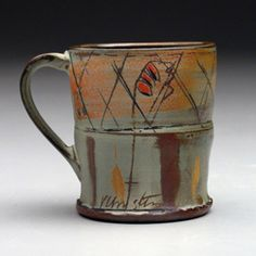 Victoria Christen.  Soda fired, colored clay slips.