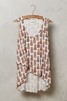 Anthropologie Pineapple High-Low Tank #anthroregistry
