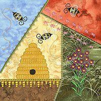 Crazy Quilt Block Machine Embroidery Design