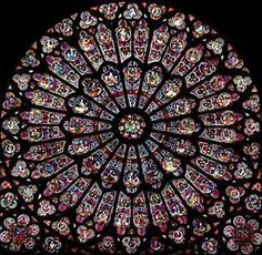 Chapter 9 p2 rose window used by medieval architecture - stained glass