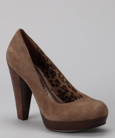 Chinese Laundry Taupe Suede Kooper Pump - nice for fall
