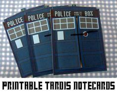 Printable Doctor Who Notecards