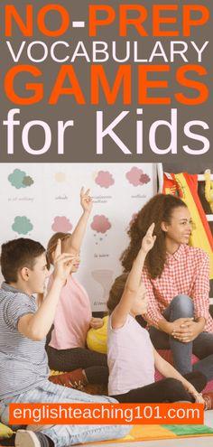 No-prep ESL Vocabulary Games for Kids