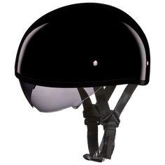 Very Rare Antique Brown Motorcycle Skull Cap Low Profile Novelty Helmet
