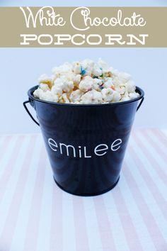 White Chocolate Popcorn - The Girl Creative