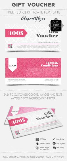 Pizza House Free Gift Certificate PSD Template Free Gift - Pizza gift certificate template