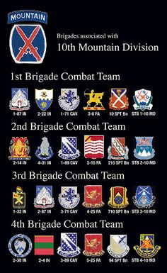 10th Mountain Division Units