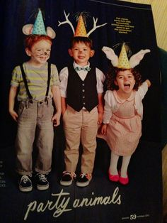 Party Animals! Cute, cheap, fast and easy kid Halloween costumes