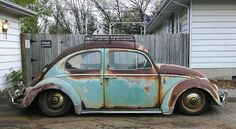 Old VW's and girls. stuff I find and repost Vw Bus, Vw Rat Rod, Kdf Wagen, Rat Look, Vw Classic, Vw Vintage, Rusty Cars, Vw Beetles, Hot Cars