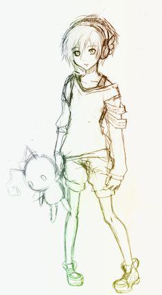 xion sketch by Escria on DeviantArt