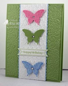 Spring Butterflies by kyann22 - Cards and Paper Crafts at Splitcoaststampers