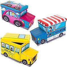 Perfekte Spielzeugkisten für Auto Fans: Spielzeugbox / Staubox / Aufbewahrungsbox / Spielzeugkiste in 3 verschiedene Designs