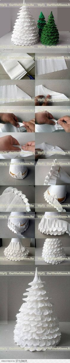 DIY Corrugated Paper Christmas DIY Projects | UsefulDI… na Stylowi.pl