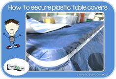 Securing the plastic table cloth for your children is so easy. I discovered this idea when I worked in preschool back in the nineties! To prevent children dragging the table cloth off and everything on it or the wind blowing it off if you are outdoors, simply tie the ends of a length of polyester …