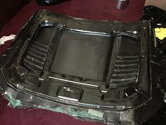 carbon fiber mustang hood build
