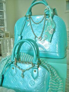 LOUIS VUITTON                                                                                                                         Blue Lagoon Alma Bag                                                                                                                         ❤✤HAND'me.the'BAG✤❤