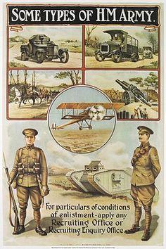 British Military Recruitment Poster, WW1 - pin by Paolo Marzioli