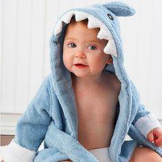 Let The Fin Begin Terry Shark Robe