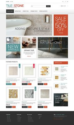 Best Website Design Template And Ideas Images On Pinterest In - Best tile design websites