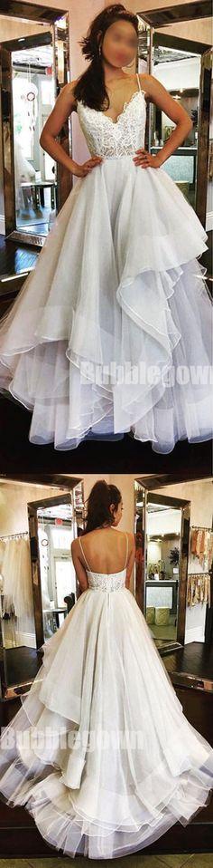 Spaghetti Strap Lace Top Popular Long Elegant Formal Prom Dress, BGP045