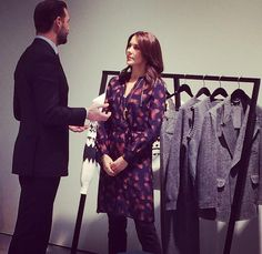 Crown Princess Mary of Denmark visits the design student collections Designers Nest on January 30, 2015 in Copenhagen. (Designers Nest is a part of Copenhagen Fashion Week, where design students present their collections and a talented award is presented.)