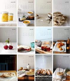 "Whimsy&Spice's ""A Year in Food"" calendar. The photography and styling is stunning"