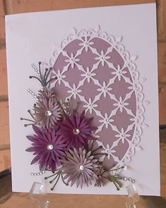 Heartfelt Creations, using  delicate Asters & decorative oval,