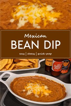Game Day Snacks, Party Snacks, Mexican Bean Dip, Bean Dip Recipes, Small Oven, Backyard Cookout, Yummy Food, Tasty, Warm Food