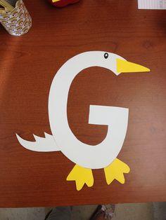 Letter G: goose