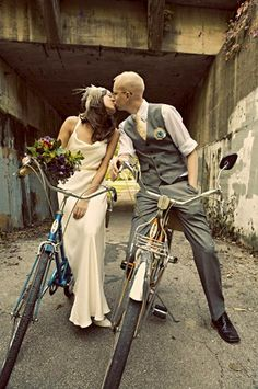 cycling to wedding