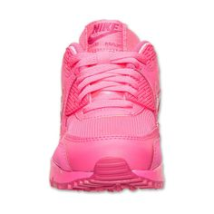 Girls' Grade School Nike Air Max 90 Running Shoes ($85) ❤ liked on Polyvore featuring shoes and sneakers