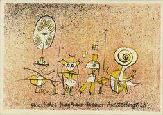 Paul Klee, Postal promoção de exposição Weimar