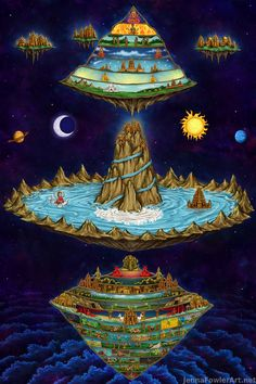 And here's one with all four cosmology maps. Greek, Egyptian, Hindu, and Norse. Buddha Kunst, Buddha Art, Shiva Art, Hindu Art, Indian Gods, Indian Art, Arte Krishna, Hindu Rituals, Lord Vishnu Wallpapers