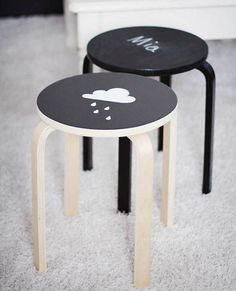 IKEA stool hack chalk paint