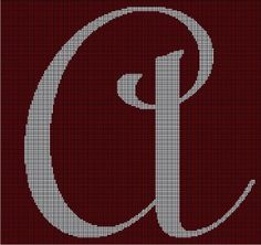 """Letter """"A"""" via Loopaghans Custom Crochet. Click on the image to see more!"""