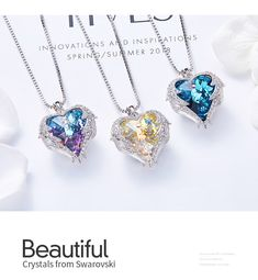 Crystals from Swarovski Necklace Earrings Set Sea Jewelry #Crystals #Swarovski #Necklace #Earrings #Jewellery