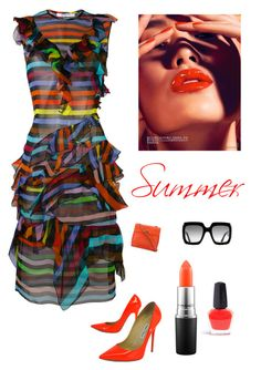 """Summer"" by kotnourka ❤ liked on Polyvore featuring Givenchy, Jimmy Choo, Chanel, Gucci and MAC Cosmetics"