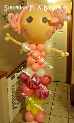 LALALOOPSY WITH BALLOONS FOR BIRTHDAY  BY SURPRISE IN A BALLOON LIKE US ON FACEBOOK http://surpriseinaballoon.vpweb.com/