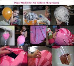 Mommyhood Craft Corner: Paper Mache Hot Air Balloon Piñata {or decoration}