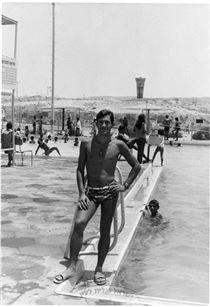 גדי יוסף בבריכת השחיה בירוחם