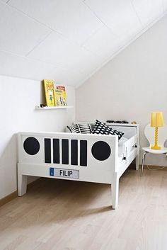 Decoração de quarto com o tema carros